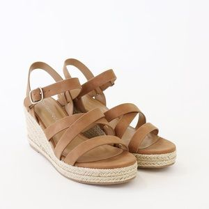 jubilee tan nuBuck espadrille sandal